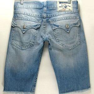 True Religion - Cut Off - Men's Denim Shorts Sz 30